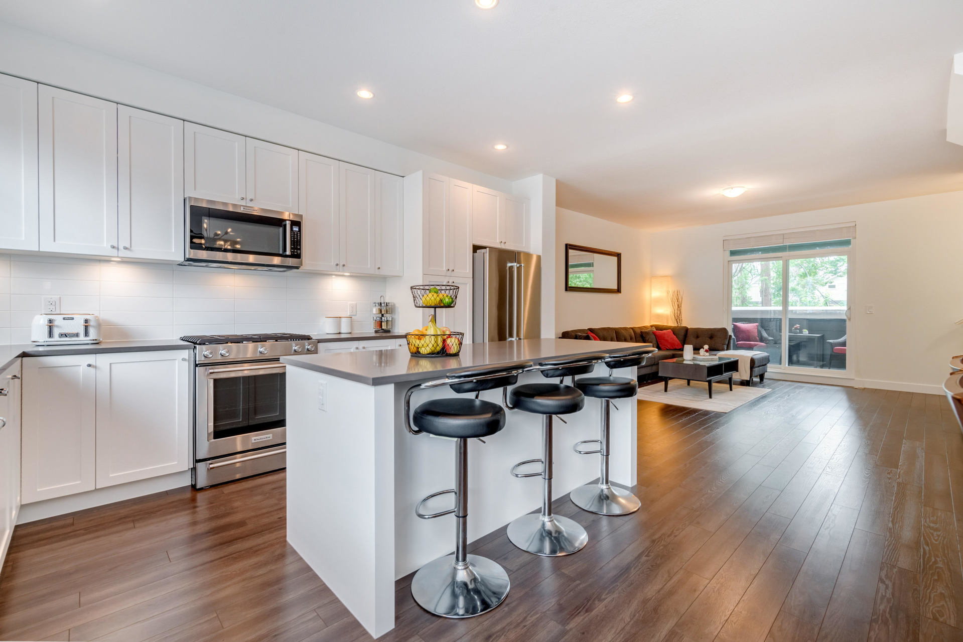 Kitchen & Living Room at 22 - 127 172 Street, Pacific Douglas, South Surrey White Rock