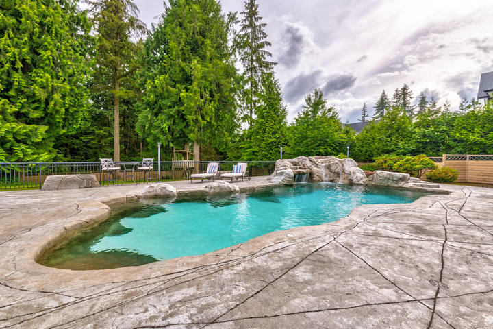 Pool & Waterfall at 1384 Glenbrook Street, Burke Mountain, Coquitlam