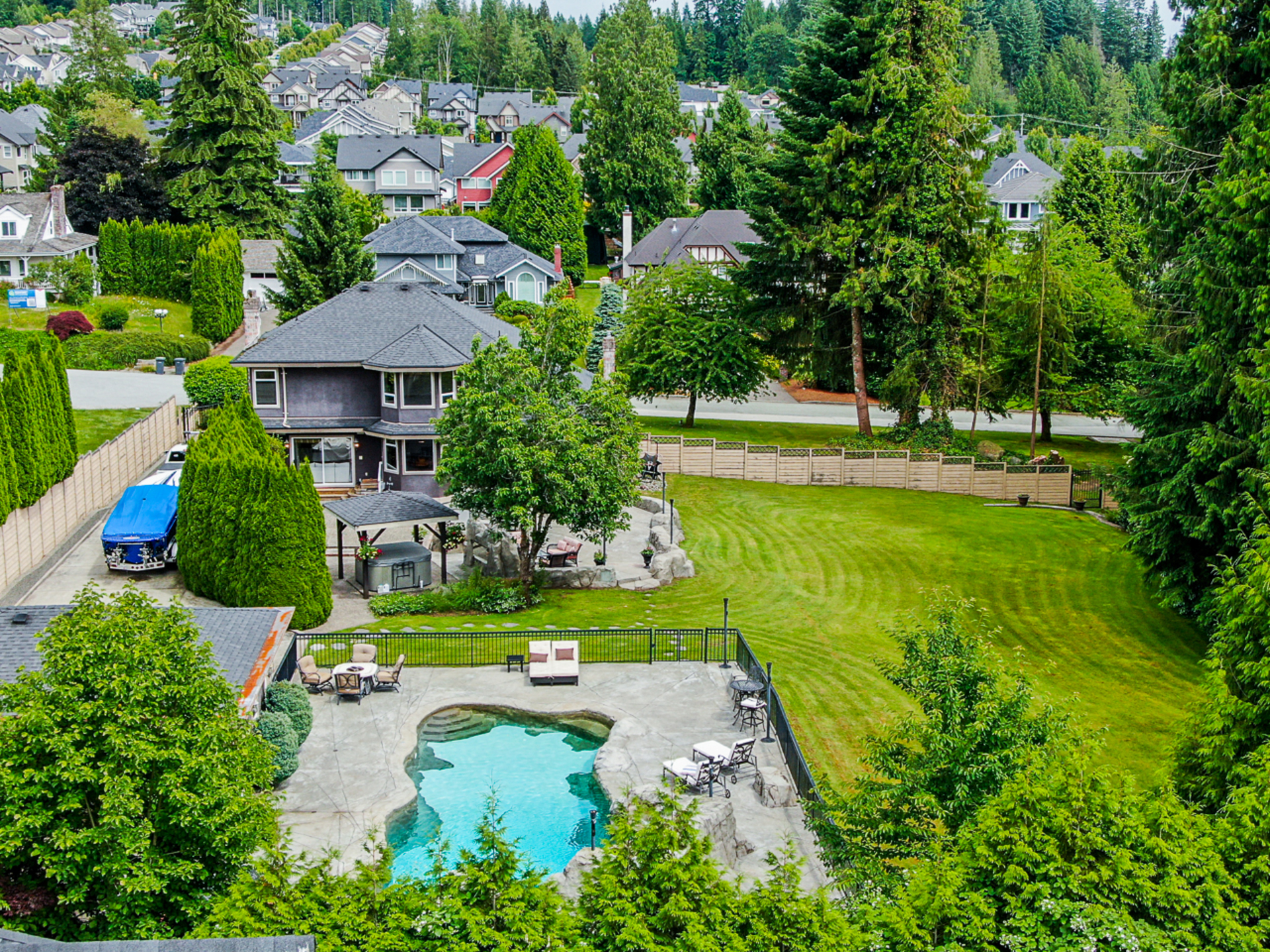 Aerial Property View at 1384 Glenbrook Street, Burke Mountain, Coquitlam