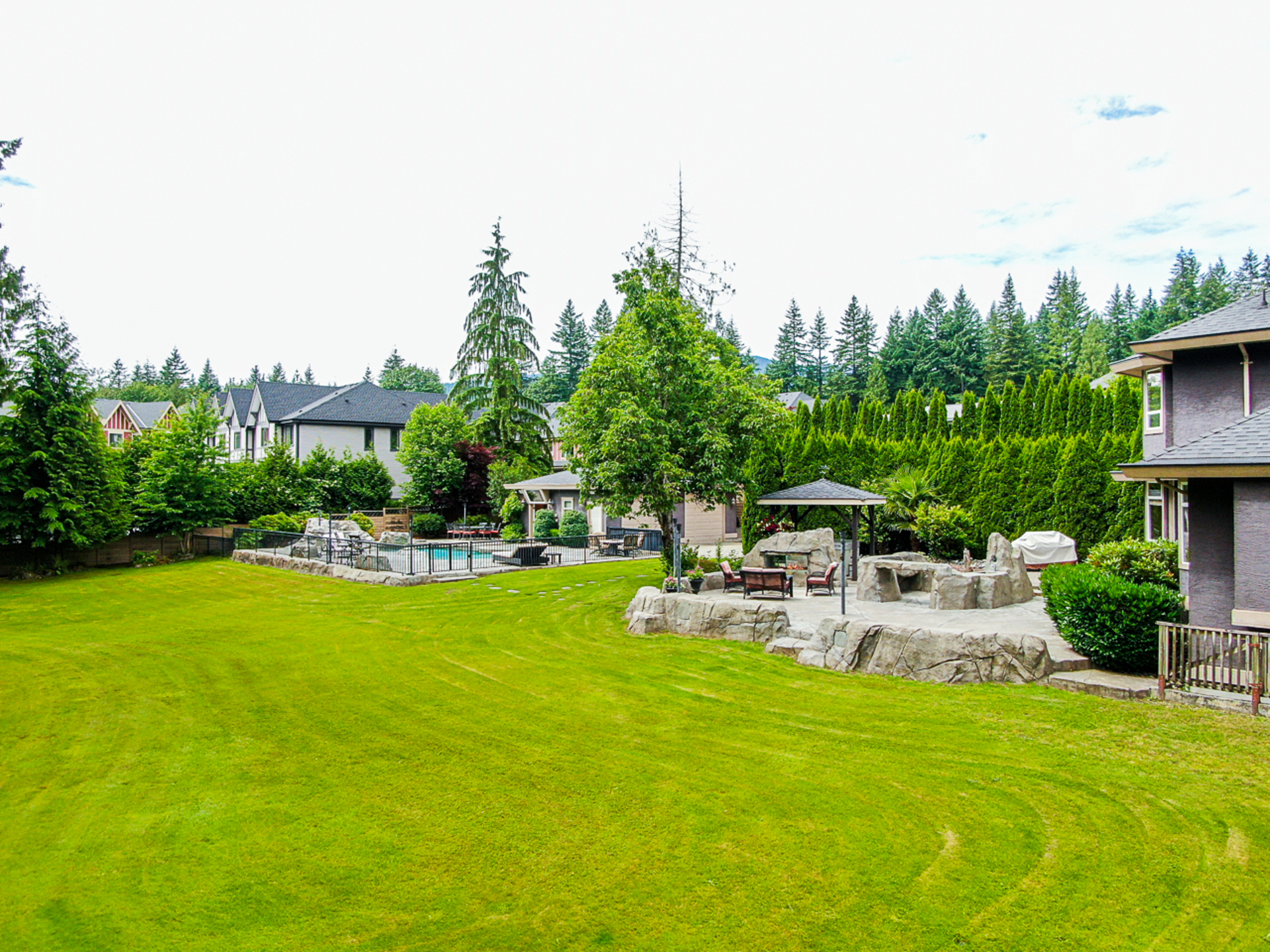 Backyard Acreage at 1384 Glenbrook Street, Burke Mountain, Coquitlam