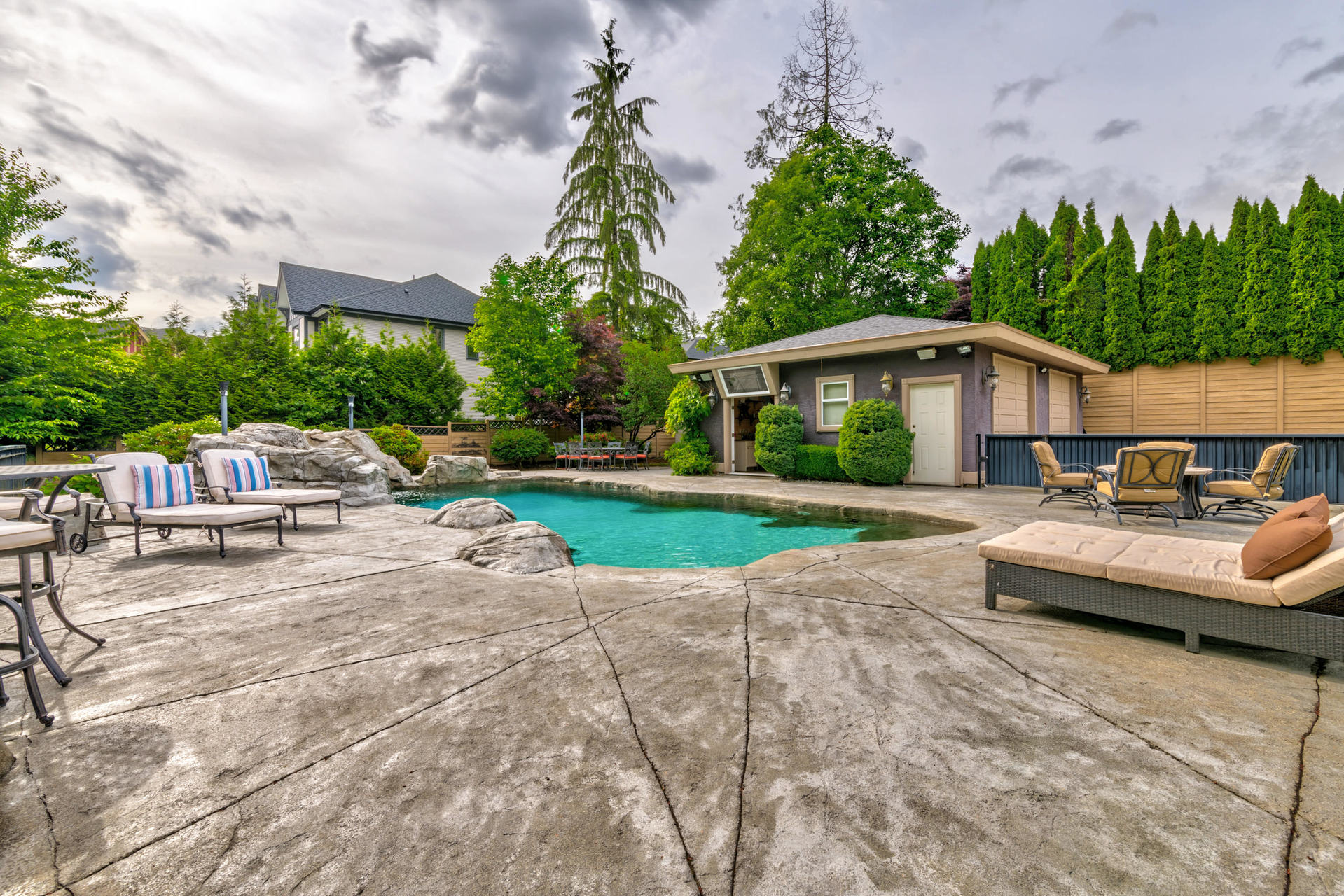Pool Area at 1384 Glenbrook Street, Burke Mountain, Coquitlam