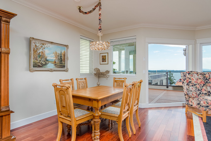 Dining Room at 15090 Beachview Avenue, White Rock, South Surrey White Rock