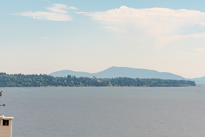 View from Main Floor Balcony  at 15090 Beachview Avenue, White Rock, South Surrey White Rock