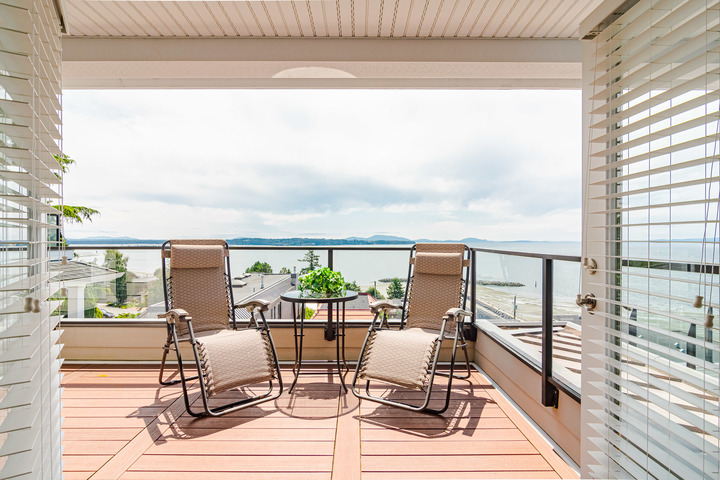 Master Suite Balcony  at 15090 Beachview Avenue, White Rock, South Surrey White Rock