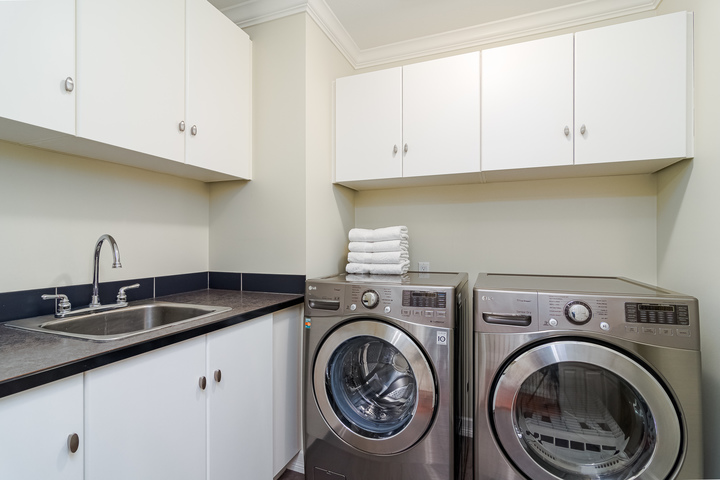 Upstairs Laundry Room  at 15090 Beachview Avenue, White Rock, South Surrey White Rock