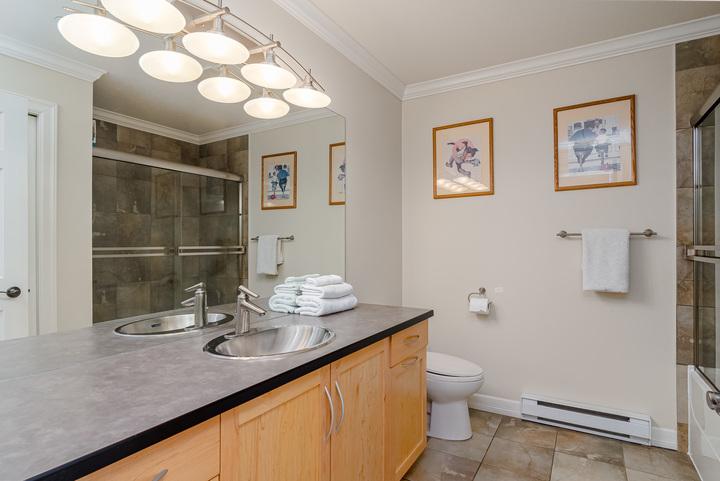 Suite Bathroom  at 15090 Beachview Avenue, White Rock, South Surrey White Rock