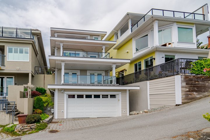 Rear Exterior  at 15090 Beachview Avenue, White Rock, South Surrey White Rock