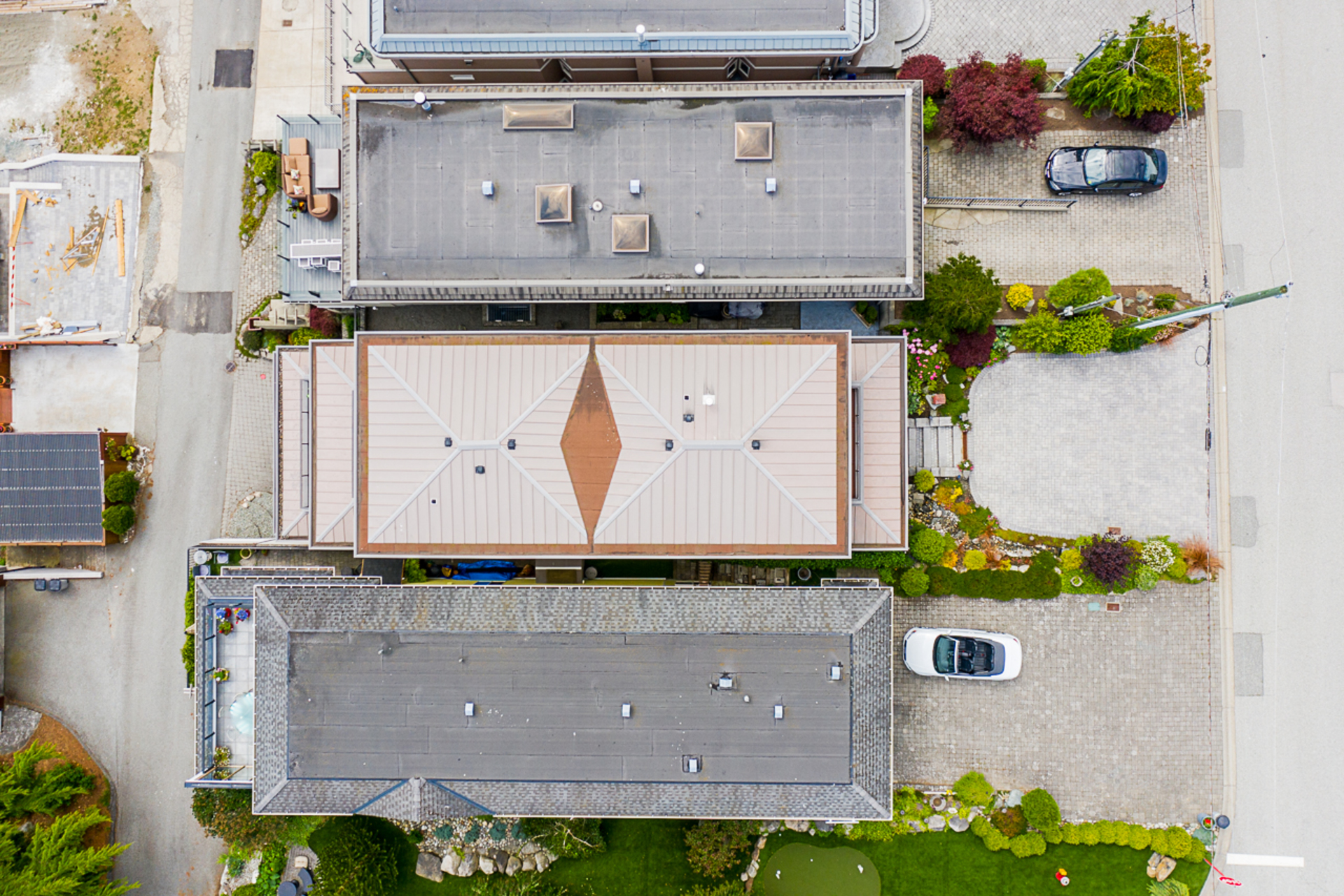 Arial Exterior from Above  at 15090 Beachview Avenue, White Rock, South Surrey White Rock