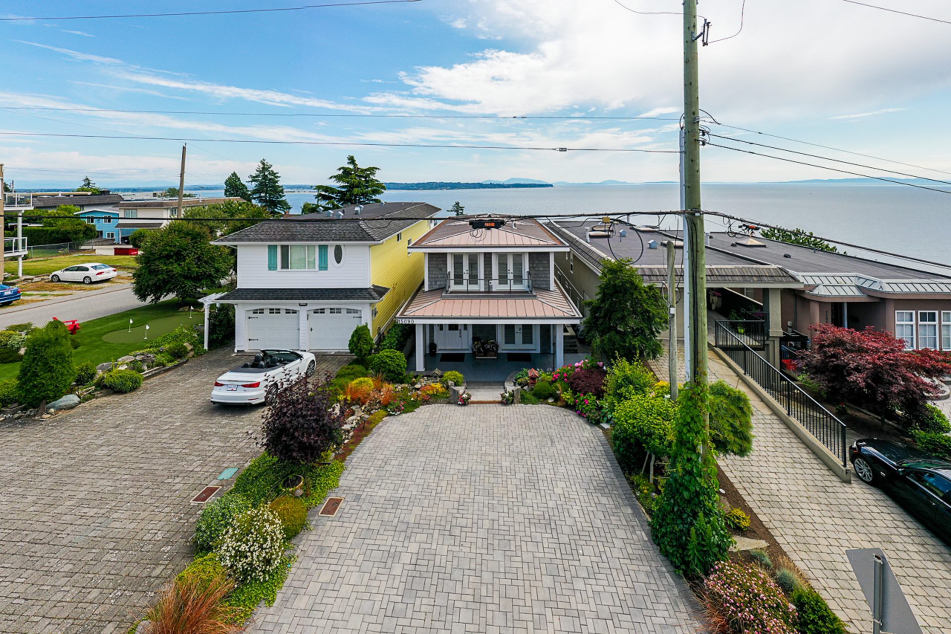 Front Exterior & Driveway at 15090 Beachview Avenue, White Rock, South Surrey White Rock
