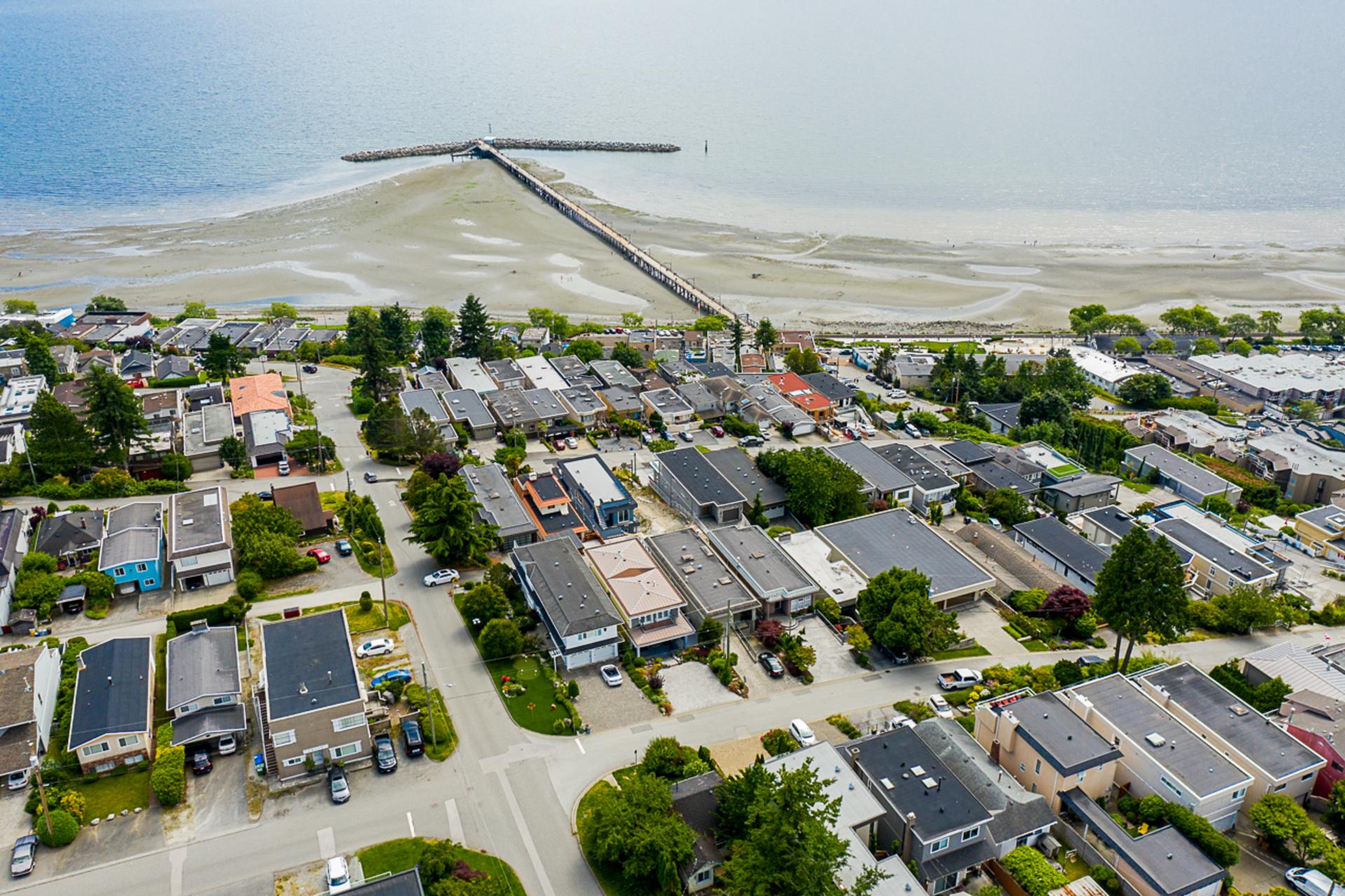 Arial Pier & Ocean Views  at 15090 Beachview Avenue, White Rock, South Surrey White Rock