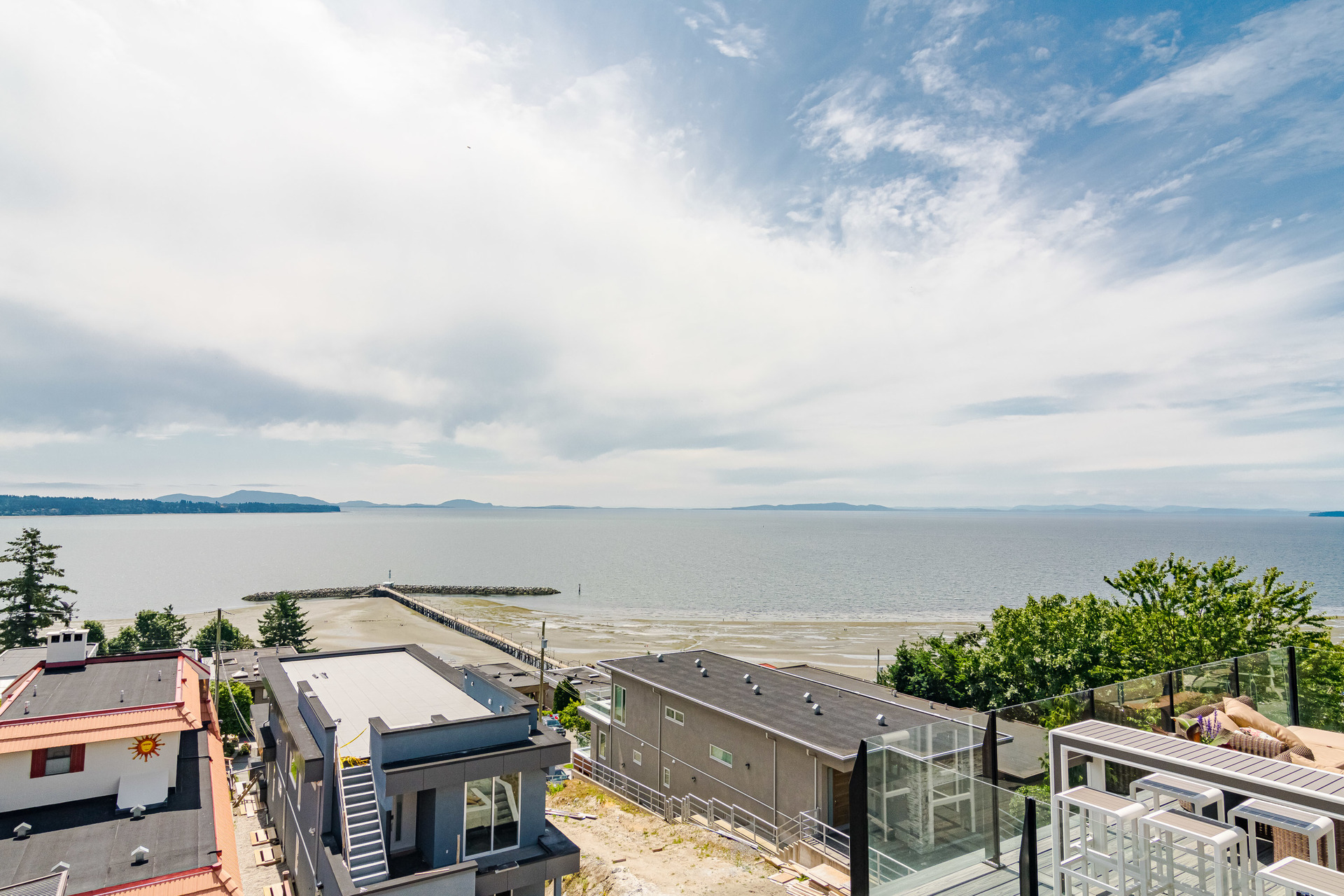 View from Master Suite Balcony  at 15090 Beachview Avenue, White Rock, South Surrey White Rock