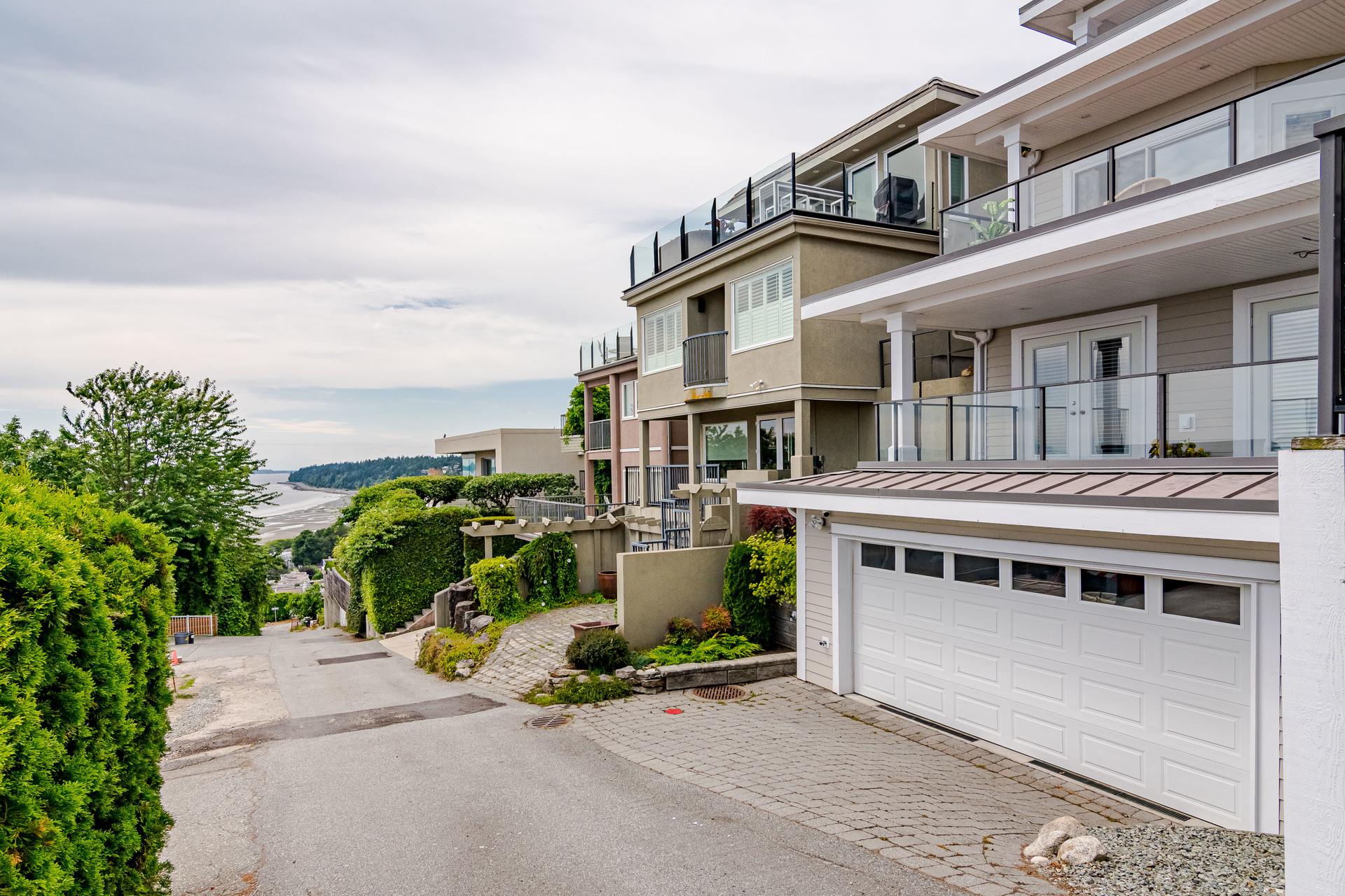 Rear Exterior Street View  at 15090 Beachview Avenue, White Rock, South Surrey White Rock