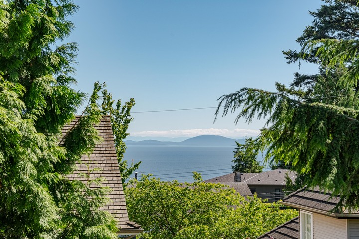 Ocean View from Top Floor Balcony  at 13168 14a Avenue, Crescent Bch Ocean Pk., South Surrey White Rock
