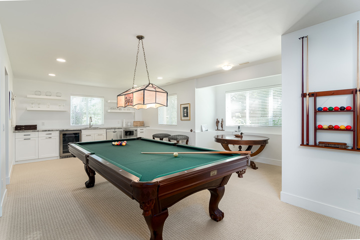 Downstairs Games Room with Walk Out Access to Backyard  at 13168 14a Avenue, Crescent Bch Ocean Pk., South Surrey White Rock