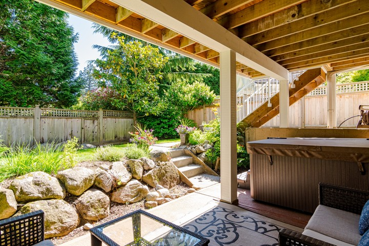 Covered Patio & Hot Tub Area  at 13168 14a Avenue, Crescent Bch Ocean Pk., South Surrey White Rock