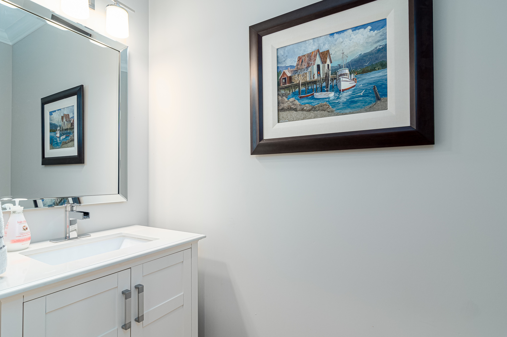 Powder Room at 13168 14a Avenue, Crescent Bch Ocean Pk., South Surrey White Rock