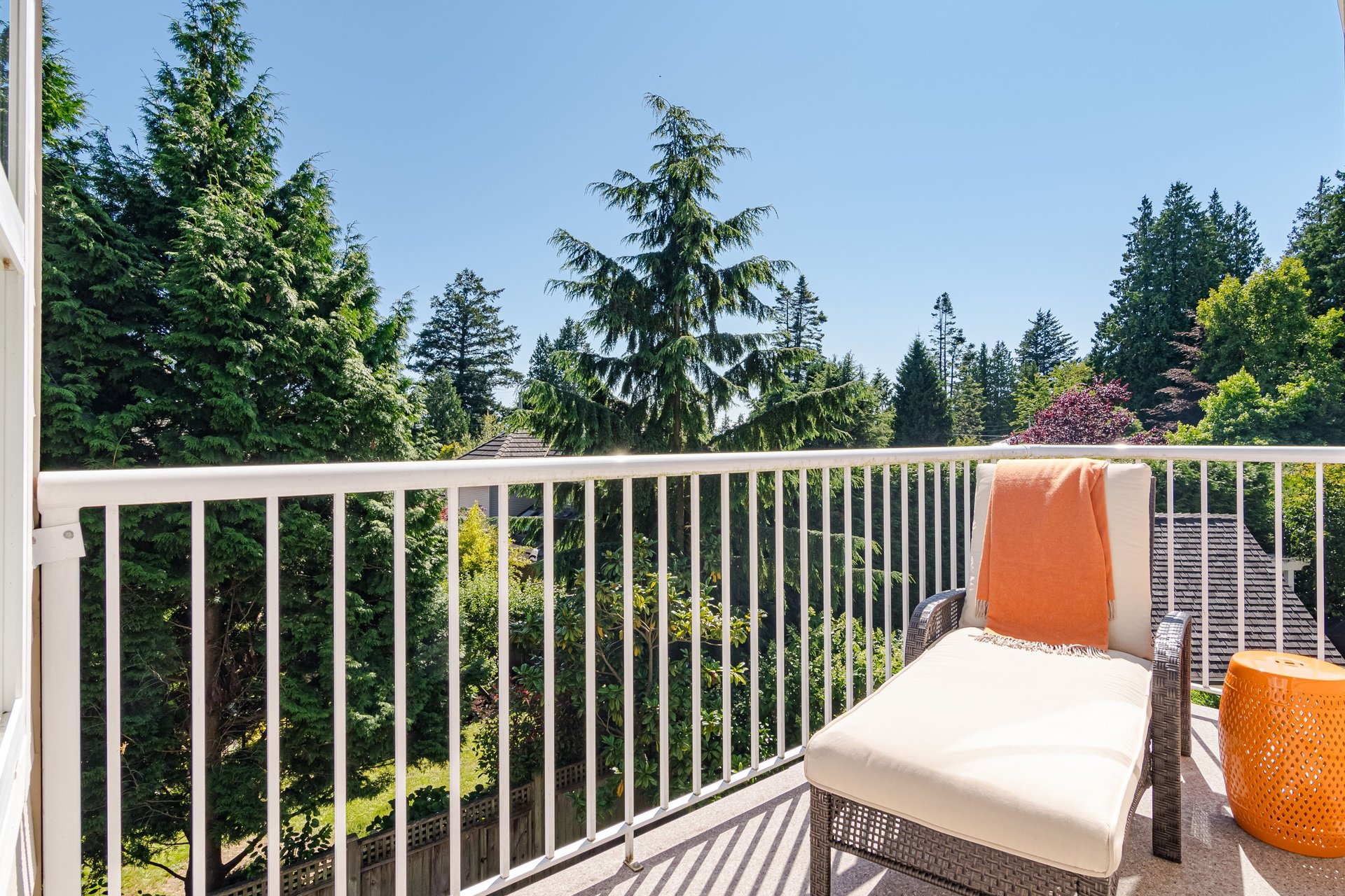 Balcony off of Master Bedroom  at 13168 14a Avenue, Crescent Bch Ocean Pk., South Surrey White Rock