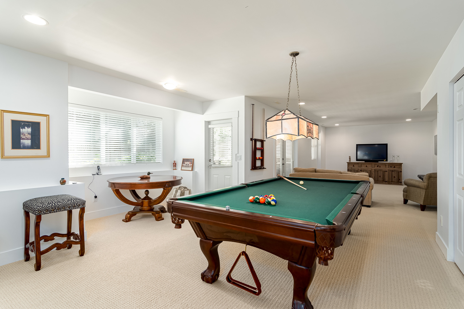 Downstairs Games Room & Recreation Room  at 13168 14a Avenue, Crescent Bch Ocean Pk., South Surrey White Rock