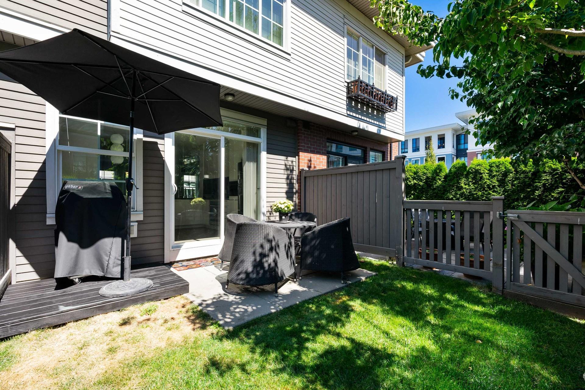 Backyard off Main  at 39 - 3399 151 Street, Morgan Creek, South Surrey White Rock