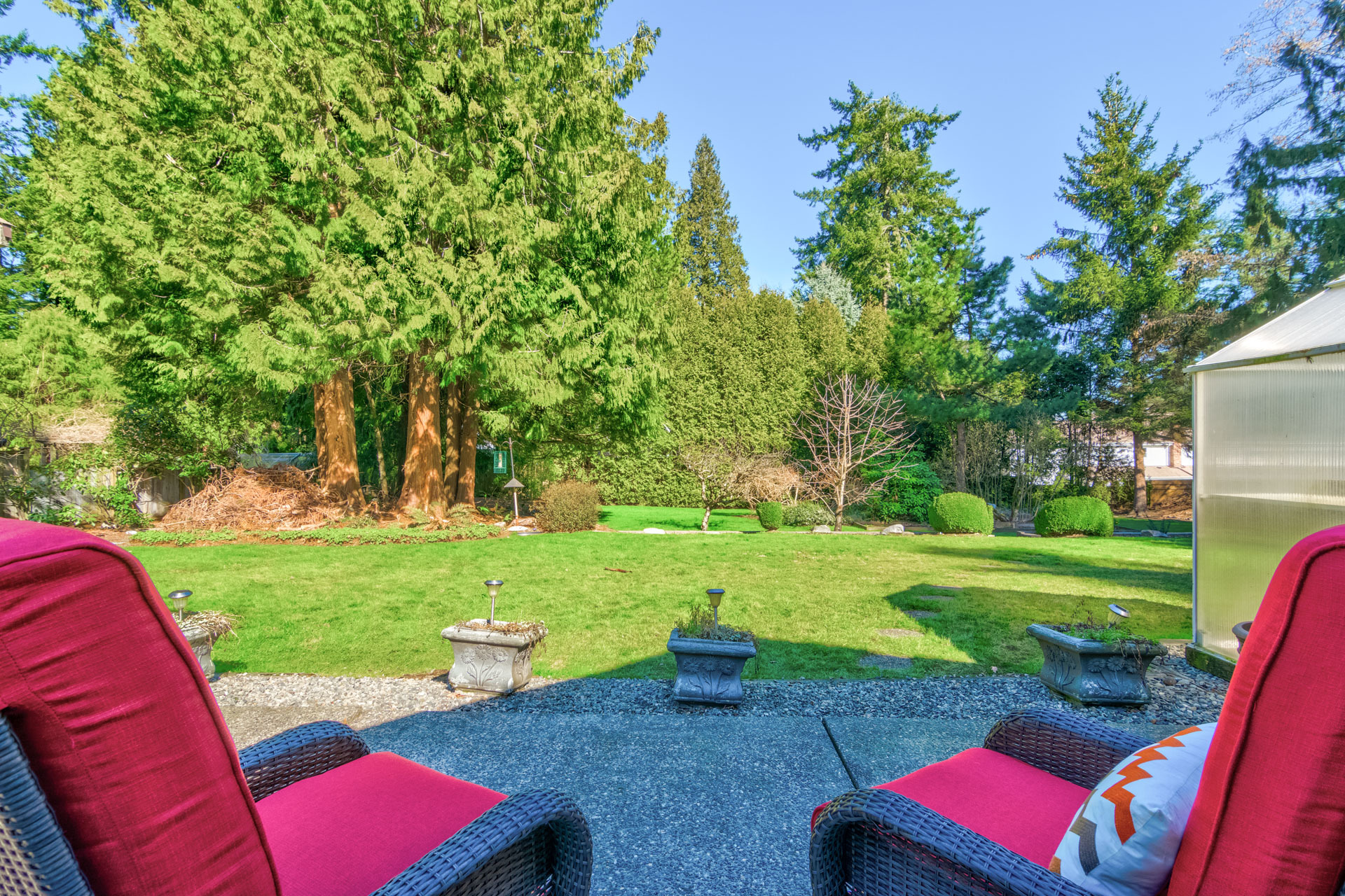 Patio & Backyard at 17237 26 Avenue, Grandview Surrey, South Surrey White Rock