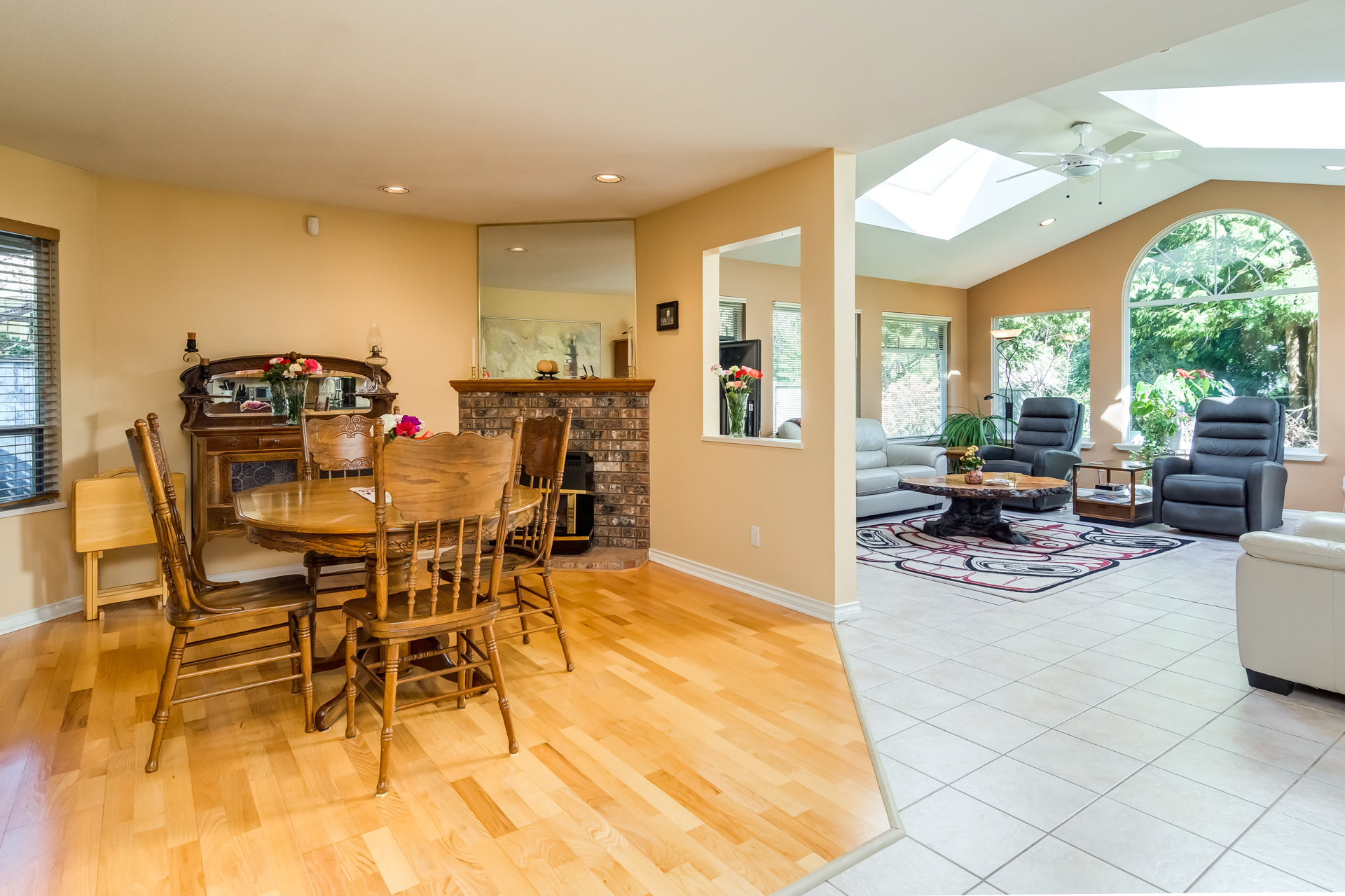 Eating Area & Family Room at 17237 26 Avenue, Grandview Surrey, South Surrey White Rock
