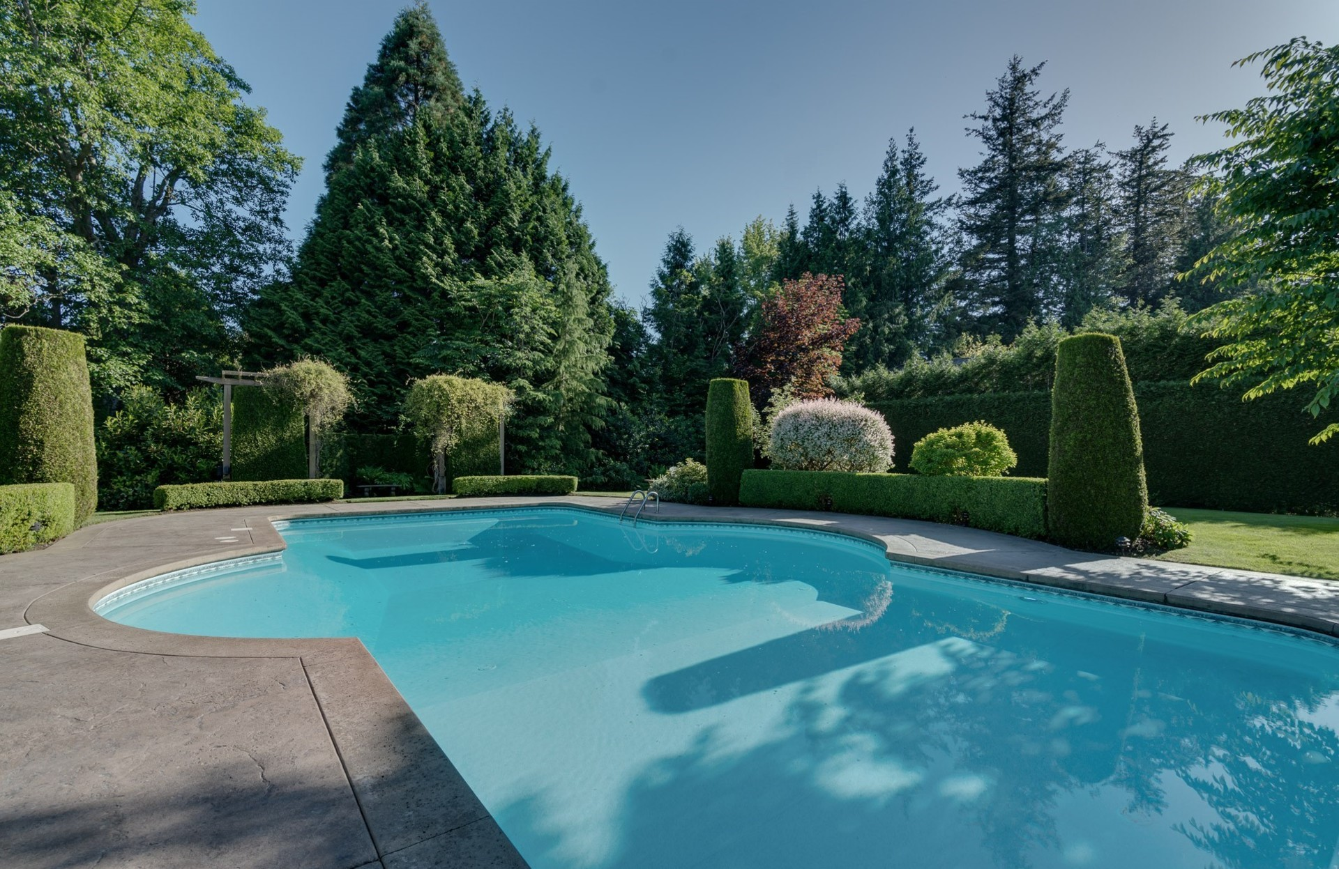 Outdoor Pool at 13342 25 Avenue, Elgin Chantrell, South Surrey White Rock