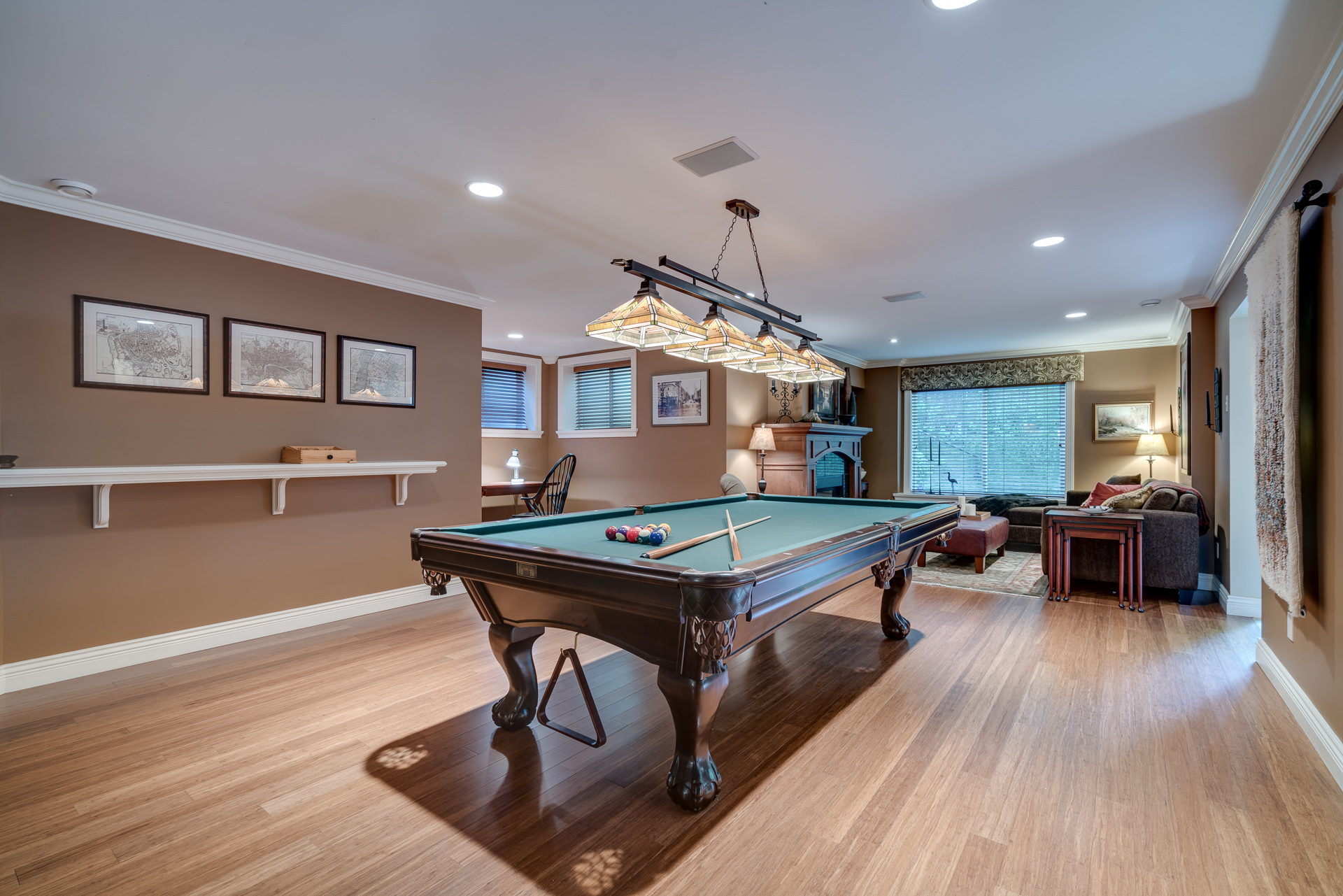 Games Room at 13342 25 Avenue, Elgin Chantrell, South Surrey White Rock