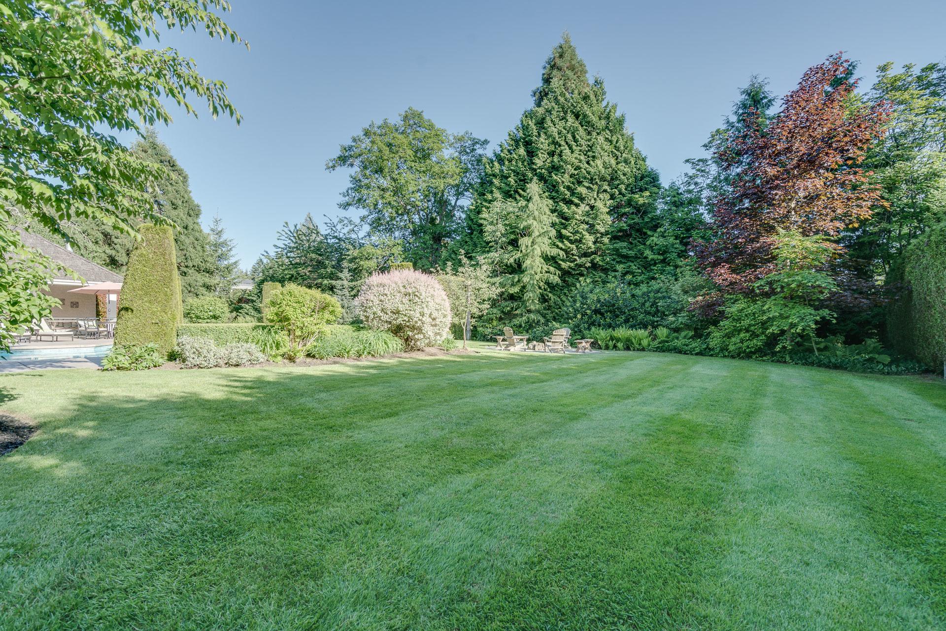 Backyard at 13342 25 Avenue, Elgin Chantrell, South Surrey White Rock