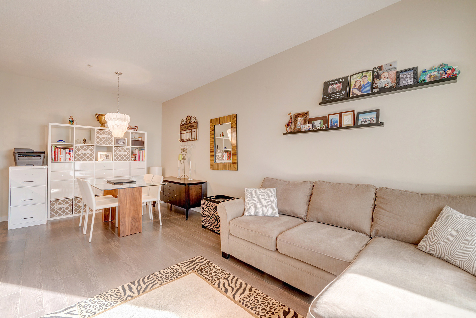 Living Room & Kitchen at 337 - 9388 Mckim Way, West Cambie, Richmond