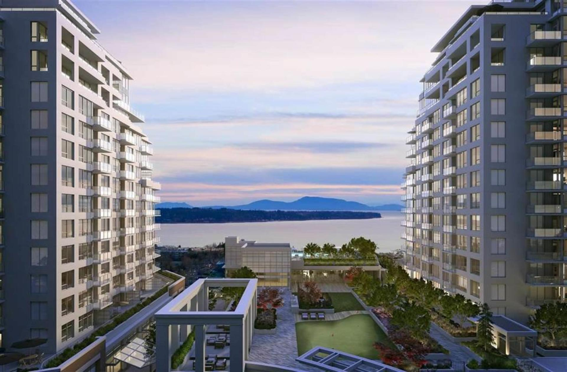 Courtyard Ocean View at 1602 - 15165 Thrift Avenue, White Rock, South Surrey White Rock