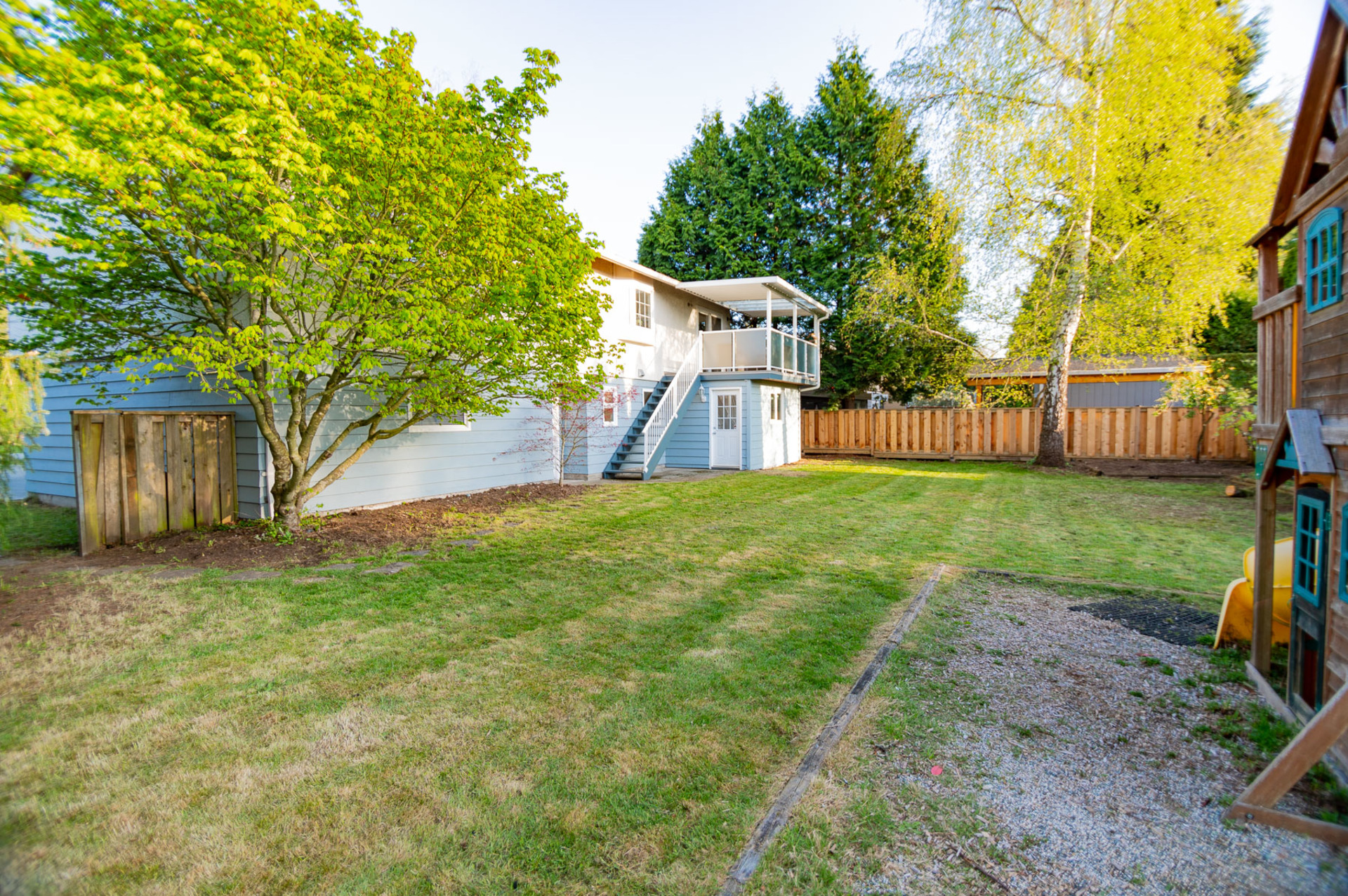 Backyard at 1685 58a Street, Beach Grove, Tsawwassen