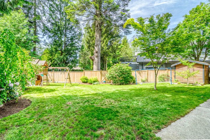 Backyard  at 2421 127 Street, Crescent Bch Ocean Pk., South Surrey White Rock