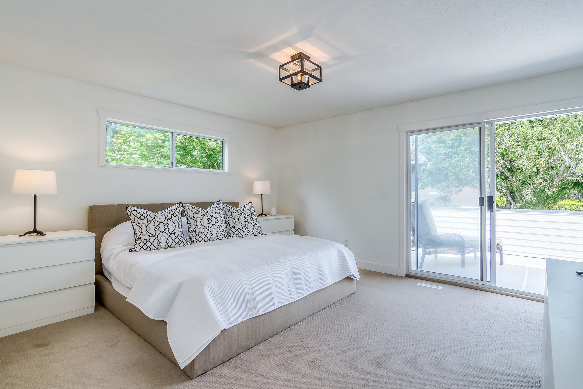 Master Bedroom & Deck at 2421 127 Street, Crescent Bch Ocean Pk., South Surrey White Rock
