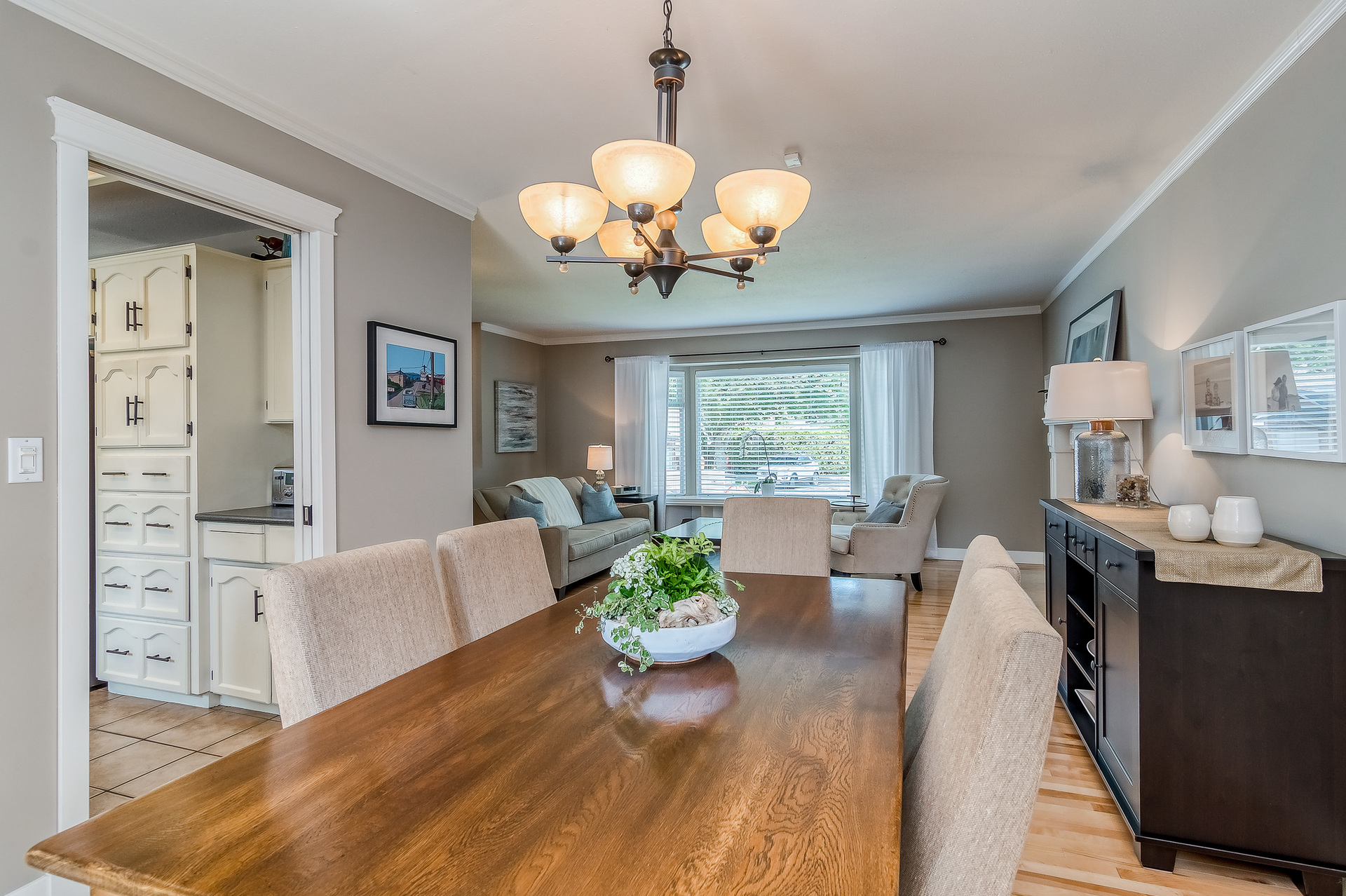 Dining Room & Living Room  at 2421 127 Street, Crescent Bch Ocean Pk., South Surrey White Rock