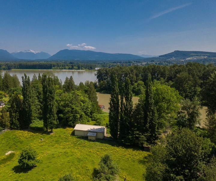 Fraser River and Mountain View  at 10114 Allard Crescent, Fort Langley, Langley