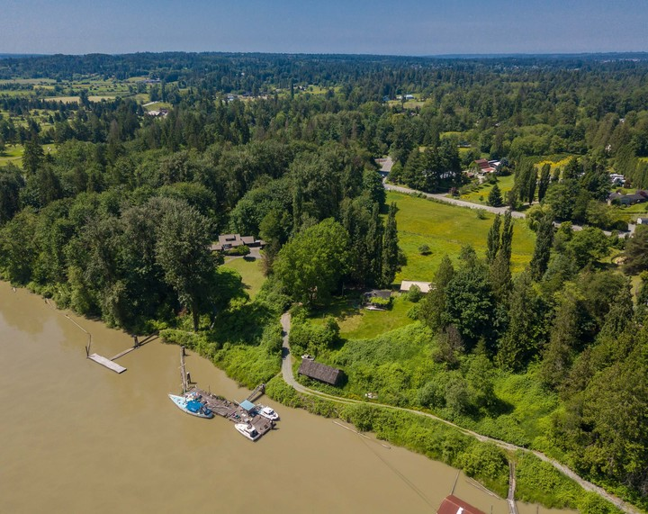 Fraser River and Green Space View at 10114 Allard Crescent, Fort Langley, Langley