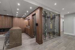 16-marbled-bar-with-walnut-throughout-and-crestron-smart-home-pad at 14388 27 Avenue, Elgin Chantrell, South Surrey White Rock