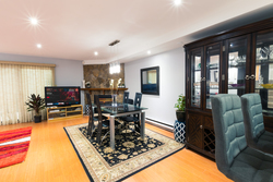 6-dining-room-to-fireplace at 35 - 7533 140 Street, East Newton, Surrey
