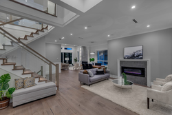 03-formal-living-with-stairs at 10916 162 Street, Fraser Heights, North Surrey