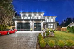 Exterior Twilight at 1580 Brearley Street, White Rock, South Surrey White Rock