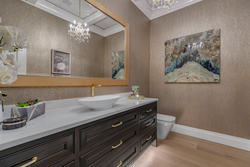 10-powder-room-on-main-with-designer-wallpaper-fixtures at 13175 19a Avenue, Crescent Bch Ocean Pk., South Surrey White Rock