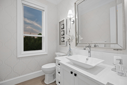 18-designer-powder-room-with-custom-wall-design at 16469 26b Avenue, Grandview Surrey, South Surrey White Rock