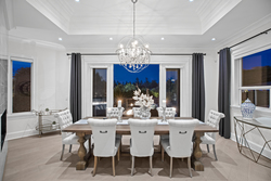6-dining-room-with-terrace-access-and-designer-chandelier at 16469 26b Avenue, Grandview Surrey, South Surrey White Rock