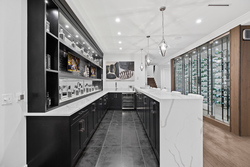 17-wet-bar-on-lower-level-with-temperature-controlled-wine-display at 3818 156 Street, Morgan Creek, South Surrey White Rock