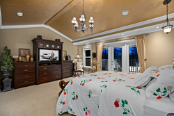 15-master-bedroom-with-vaulted-ceiling at 5615 121a Street, Panorama Ridge, Surrey