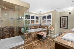 17-master-ensuite-with-jacuzzi-glass-shower at 5615 121a Street, Panorama Ridge, Surrey