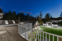 18-twilight-private-terrace-view-to-backyard-from-master-bedroom at 5615 121a Street, Panorama Ridge, Surrey