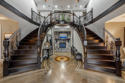 4-grande-foyer-with-double-staircase at 5615 121a Street, Panorama Ridge, Surrey