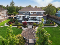 1-drone-exterior-with-gazebo at 3280 164 Street, Morgan Creek, South Surrey White Rock