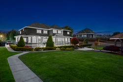32-twilight-backyard at 3280 164 Street, Morgan Creek, South Surrey White Rock